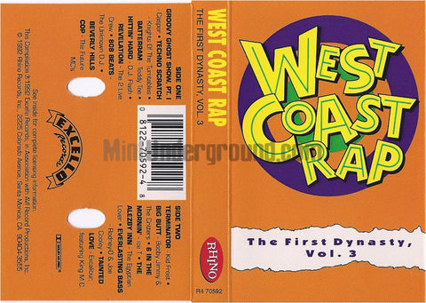 Various Artists: West Coast Rap: The First Dynasty, Vol. 3: Cassette