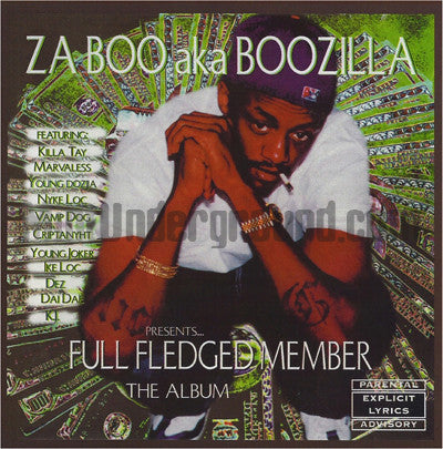 Zaboo aka Boozilla: Full Fledged Member: CD