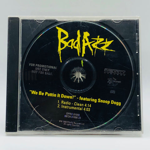 Bad Azz featuring Snoop Dogg: We Be Puttin It Down: CD Single: Promo