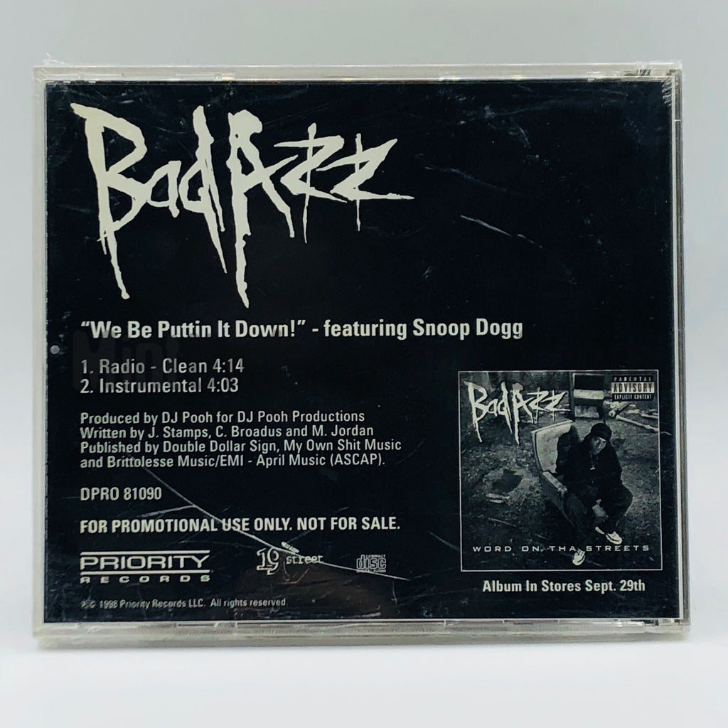 Bad Azz featuring Snoop Dogg: We Be Puttin It Down: CD