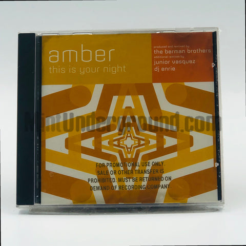 Amber: This Is Your Night: CD Single