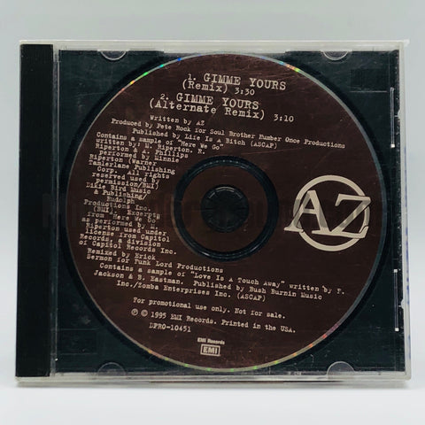 AZ: Gimme Yours: CD Single: Promo