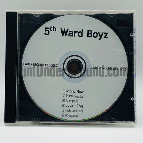 5th Ward Boyz: Right Now/Luvin' This: CD Single: Promo
