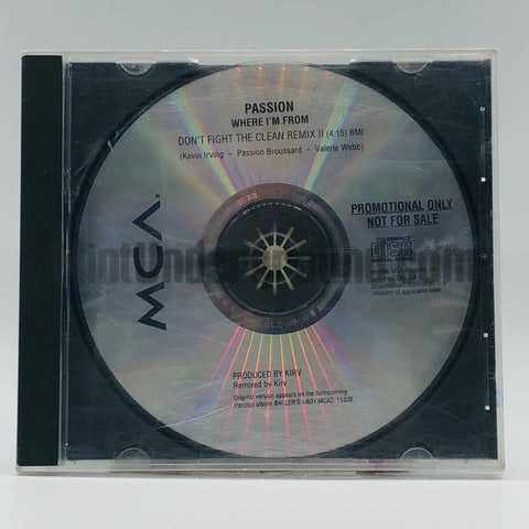 Passion: Where I'm From: CD Single