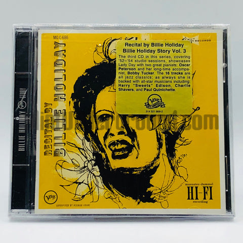 Billie Holiday: Recital By Billie Holiday: CD