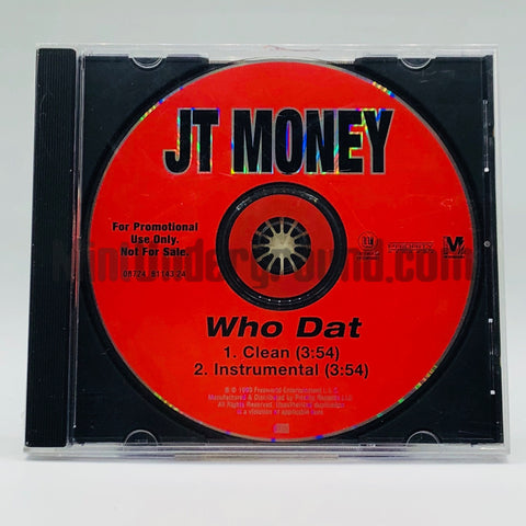 JT Money: Who Dat: CD Single: Promo