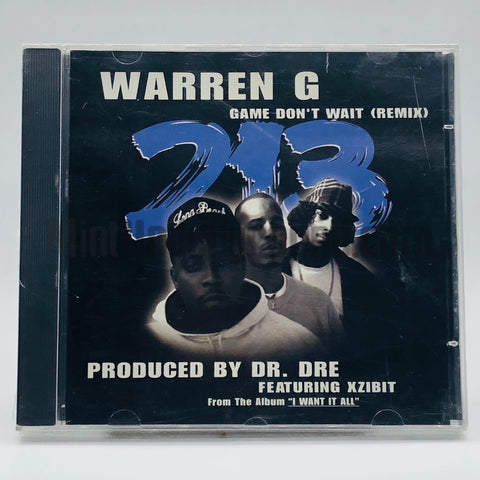 Warren G 213: Game Don't Wait (Remix): CD Single