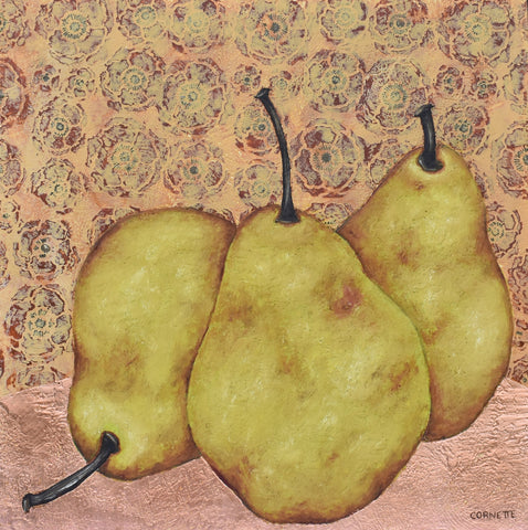 Three Pears on Copper