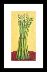 Asparagus On Red
