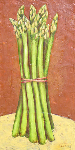 Asparagus On Yellow