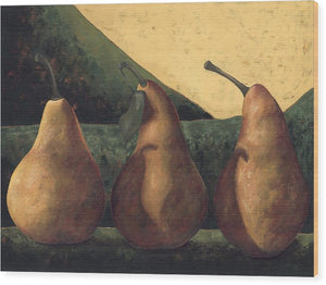 Bosc Pears On Green