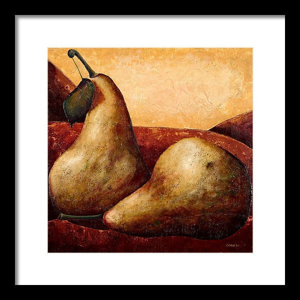 Bosc Pears On Red