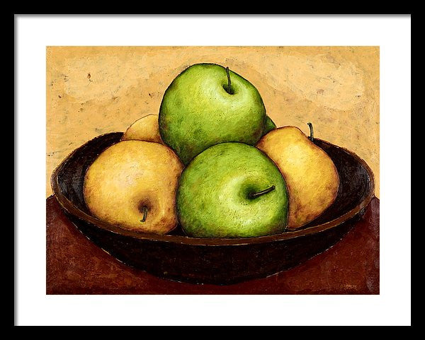 Mixed Apples In Bowl