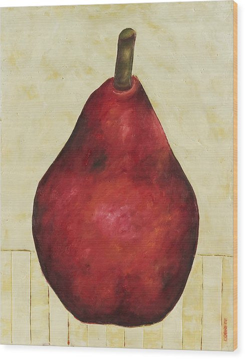 Red Pear On Cream