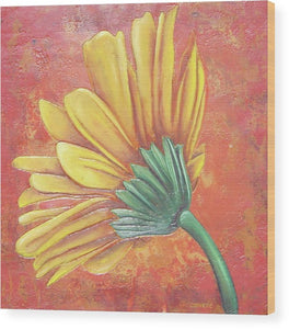 Yellow Gerbera - Wood Print