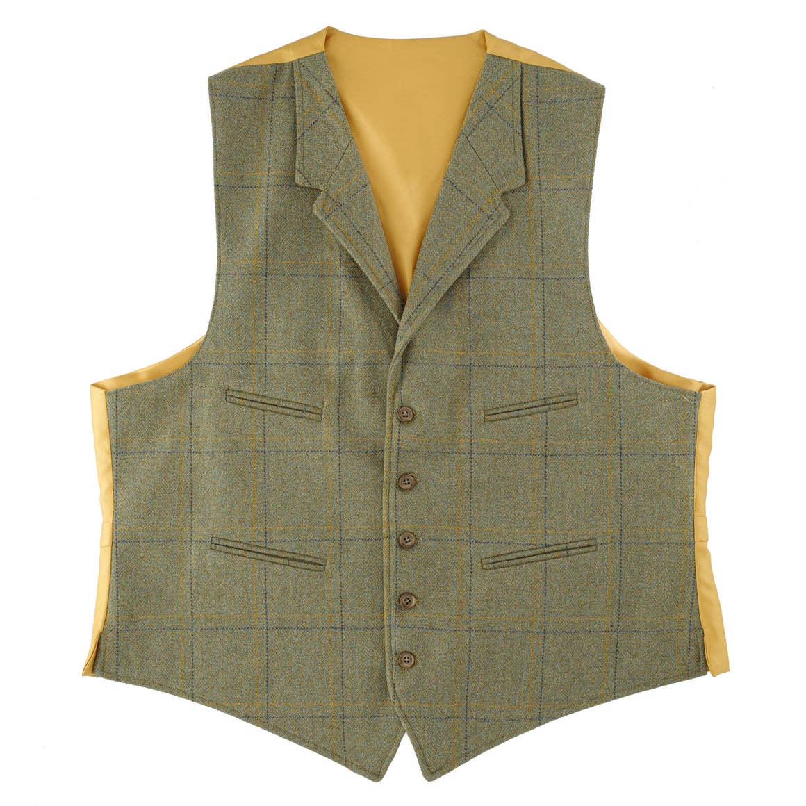 Yorkshire Tweed Waistcoat With Lapels