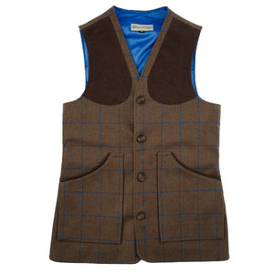 Luxury Alcantara Shooting Vest - Swaledale Tweed