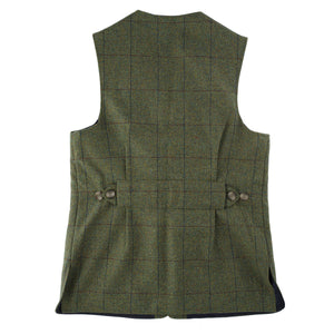 Luxury Alcantara Trimmed Shooting Vest Ettrick Blue