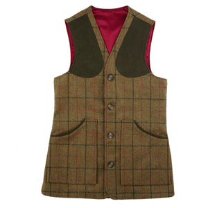 Luxury Alcantara Shooting Vest - Coverdale Tweed