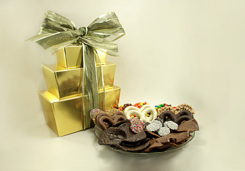 3 Tier Tower Milk & Dark Gourmet Chocolate Mixed Package (B)