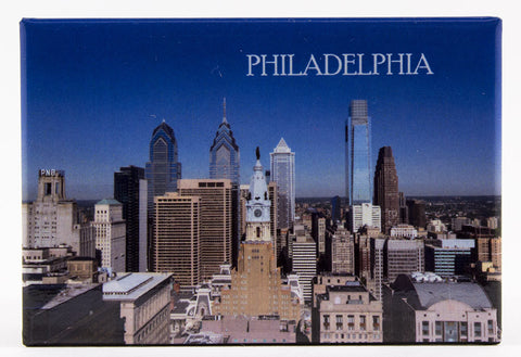 Philadelphia city view magnet