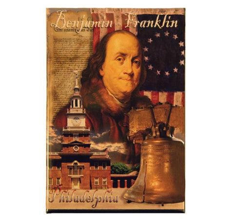 Benjamin Franklin Photo Magnet