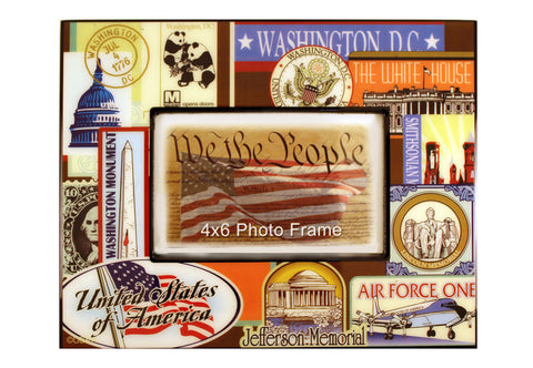 Washington D.C. Vintage Picture Frame
