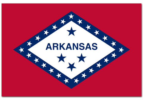 "Arkansas State  4"" x 6"" Flag"