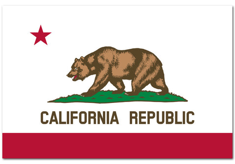 "California State  4"" x 6"" Flag"