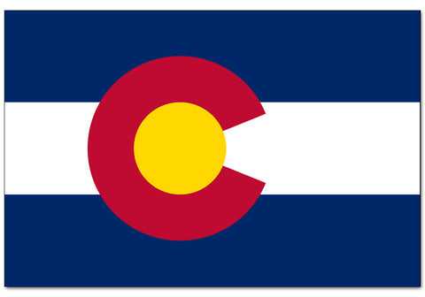 "Colorado State  4"" x 6"" Flag"