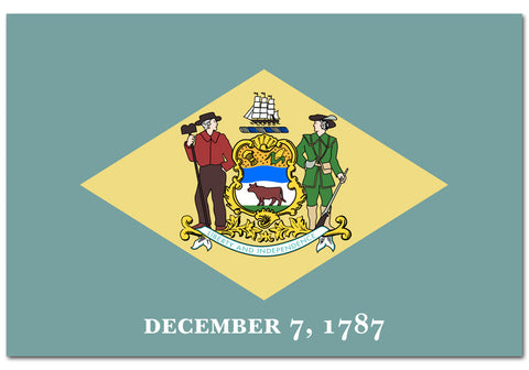 "Delaware State  4"" x 6"" Flag"