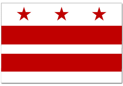 "District of Columbia  4"" x 6"" Flag"
