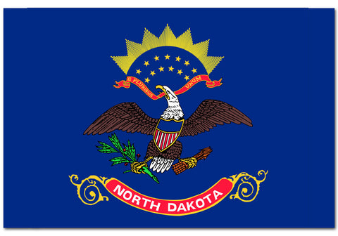 "North Dakota State  4"" x 6"" Flag"
