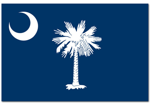 "South Carolina State  4"" x 6"" Flag"