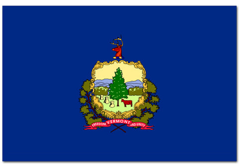 "Vermont State  4"" x 6"" Flag"