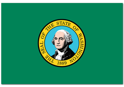 "Washington State  4"" x 6"" Flag"