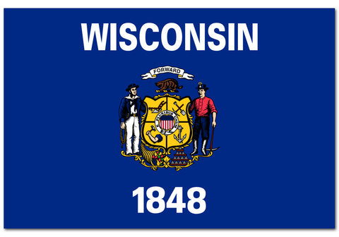 "Wisconsin State  4"" x 6"" Flag"