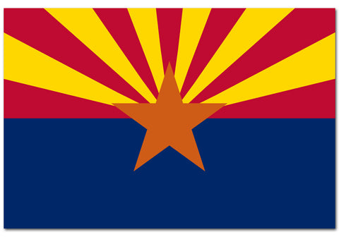 "Arizona State  4"" x 6"" Flag"