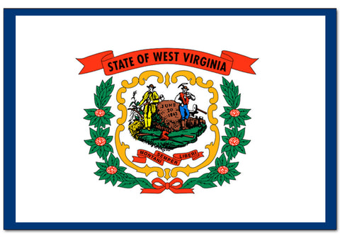 "West Virginia State  4"" x 6"" Flag"