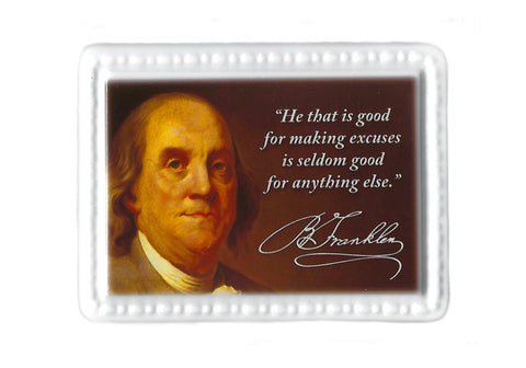Benjamin Franklin Ceramic Quote Magnet