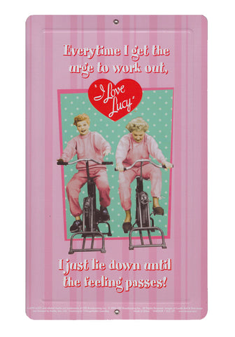 "I Love Lucy ""Work Out"" Mini Tin Sign"