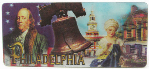 Philadelphia Then and Now LENTICULAR Magnet