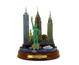 New York and Statue of Liberty 3D Skyline (Color)