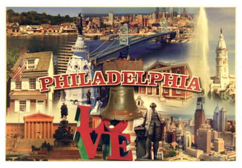 Philadelphia Landmark Collage Postcard
