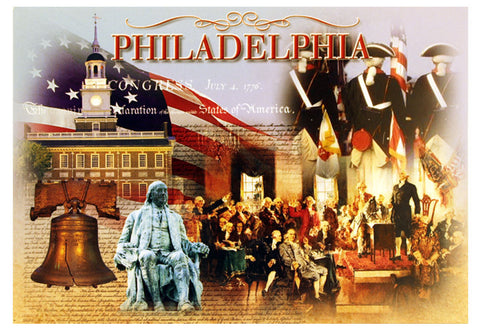 Philadelphia Historic Photo Collage Postcard