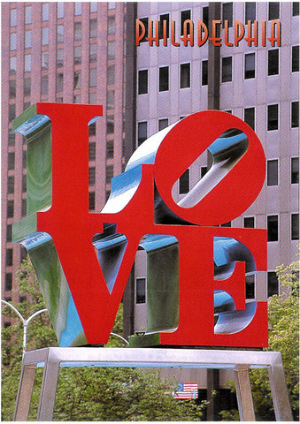 Philadelphia LOVE Sculpture Postcard