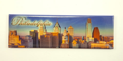 Philadelphia Skyline Sunrise Magnet
