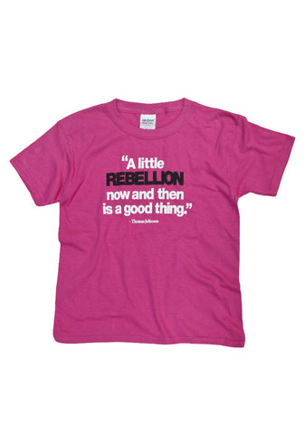 A Little Rebellion Girls Youth Shirt ( 2 colors)