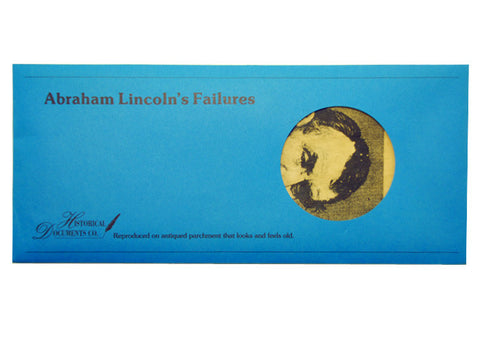 Abraham Lincoln's Failures documents