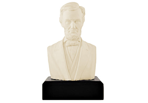 "Abraham Lincoln 11"" Ivory White Bust"